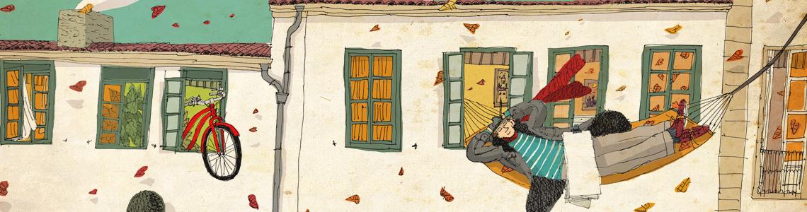 """David Pintor nos invita a pasear por """"Compostela"""" a través de sus ilustraciones hasta el 15 de septiembre"""