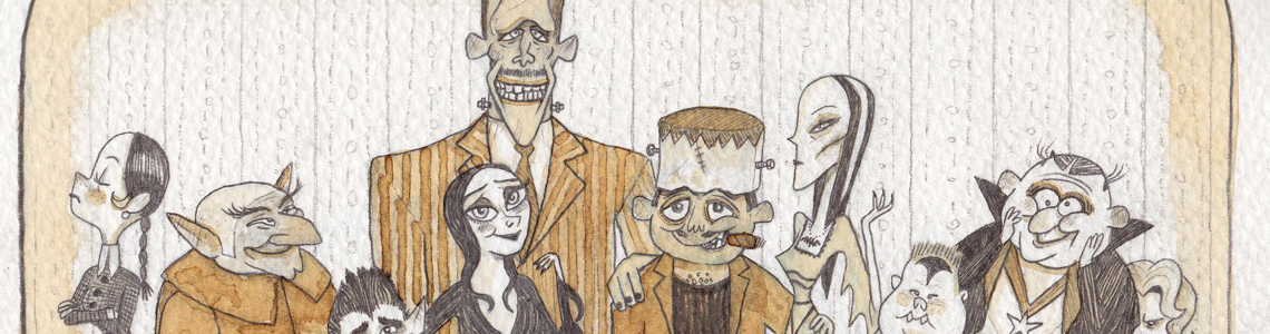 """Munsters vs Addams"" en Susanita's Little Gallery"