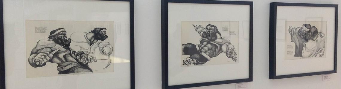 Granada acoge una exposición de ilustraciones y dibujos sobre Martín Fierro en la Biblioteca de Andalucía