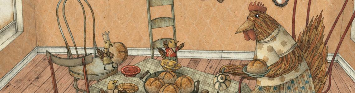 """Marco Somà y """"La gallinita roja"""": """"Mis abuelos eran agricultores en los años 50. Con mis ilustraciones traté de recrear los colores y la atmósfera de esa época"""""""