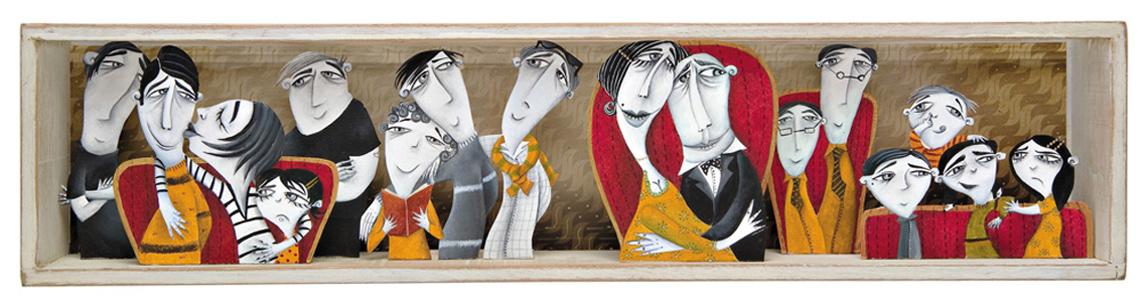 """Valeria Gallo y """"Esta familia que ves"""": """"La finalidad de meter a los personajes en cajas no era la de crear maquetas, sino simplemente rodear al personaje en un espacio íntimo"""""""