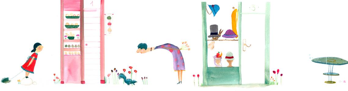 """Paula Alenda y sus ilustraciones para """"¡Qué raro!"""": """"Me encanta la acuarela, es la técnica que más disfruto. Mi relación con ella es muy intuitiva, muy lúdica también"""""""