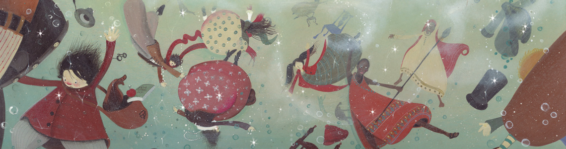 """""""El baile de Leia"""", de Susanna Isern y María José Olavarría: """"Las ilustraciones de Leia son el turquesa del agua y del cielo, el marrón de las cortezas, el azul intenso de las mariposas y el rojo de las amapolas"""""""
