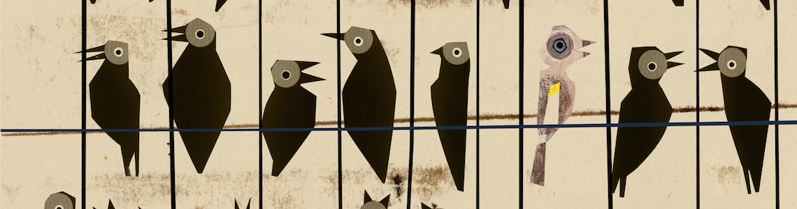 """""""El pájaro enjaulado"""", dibujos del ilustrador Javier Zabala inspirados por las palabras de Vincent van Gogh"""