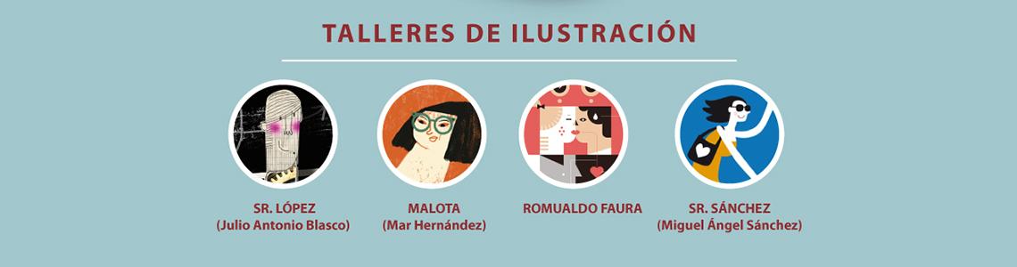 Vacaciones ilustradas en Cartagena del 6 al 9 de agosto. Sr. López, Malota, Romualdo Faura y Sr. Sánchez protagonizan los cuatro días de talleres en Ilustrafun