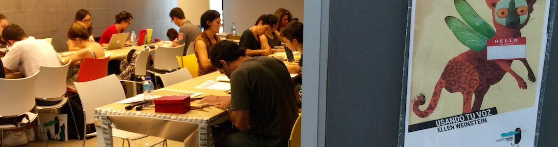 En IlustraTour 2015, talleres para todos los sentidos