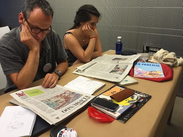 Taller Manel Fontdevila periódicos