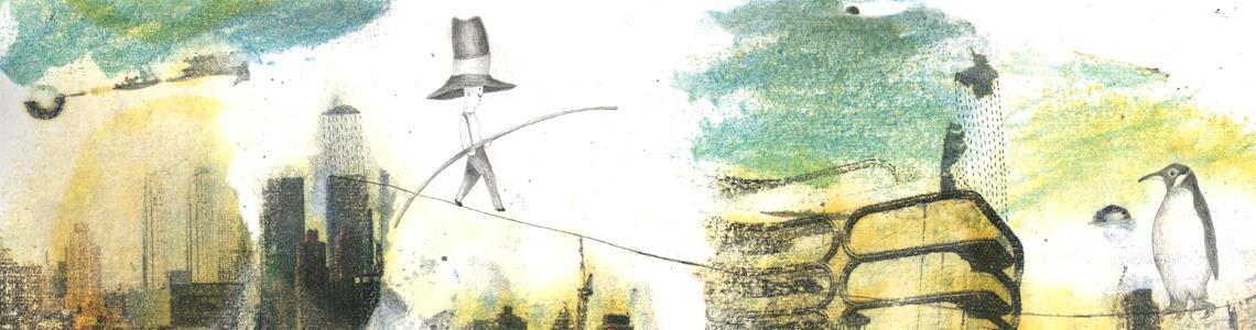 """María Beitia y 'Debajo del sombrero de un hombre con sombrero': """"Me pareció un auténtico regalo poder ilustrar un texto que no me soltaba hasta el final y que en la primera frase ya me hacía volar"""""""