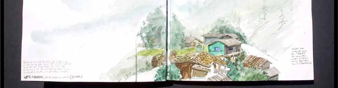 Enrique Flores y 'Nepal. 300 kilómetros a pie alrededor del Annapurna'