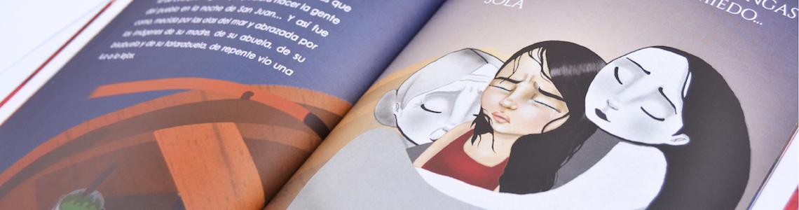 """Andrea García y 'La Farera': """"En este caso mis ilustraciones tienen como característica diferencial el uso de las texturas y el color, las perspectivas forzadas y los personajes de grandes ojos"""""""