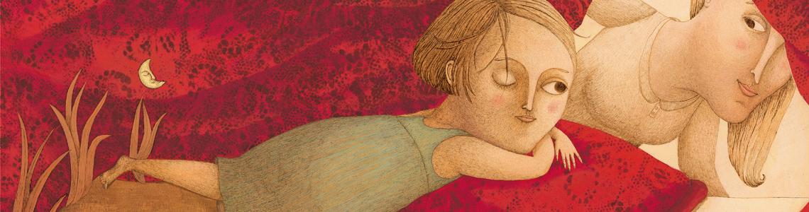 """Marjorie Pourchet y """"A mi lado"""": """"Encontré interesante hacer ilustraciones donde se encuentran representados diferentes momentos juntos, tratando de jugar con el tiempo de la historia"""""""