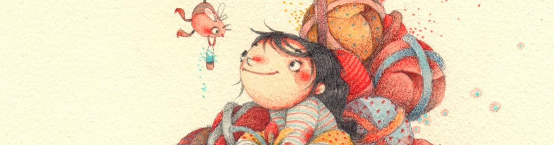 El trabajo de la ilustradora Eider Eibar en el Rincón del Ilustrador del Centro Cultural Aiete de San Sebastián