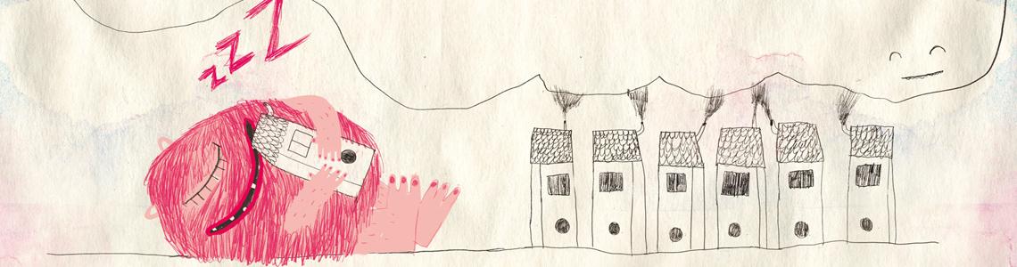 """Olga de Dios y """"Monstruo Rosa"""": """"Algunas partes del cuento las he dejado sin dibujar para que las pinten como quieran, creo que es interesante que los niños interactúen con lo que leen"""""""