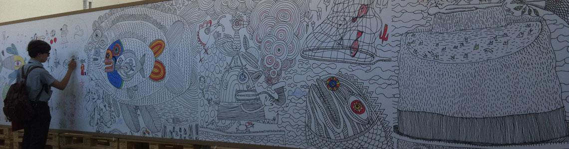 """IlustraTour 2013 nos deja en el LAVA la exposición """"Al otro lado de la línea"""", de Pep Carrió"""