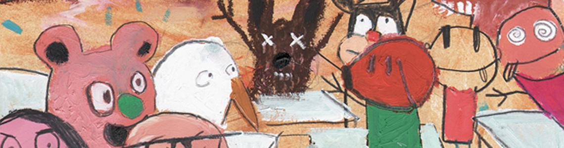 """Edgar Plans y """"La tienda loca"""": """"Al leer los poemas me parecieron una ideas """"locas"""", como a mí me gustan. Esas palabras me invitaron a crear animales nuevos y escenas coloristas llenas de vida"""""""