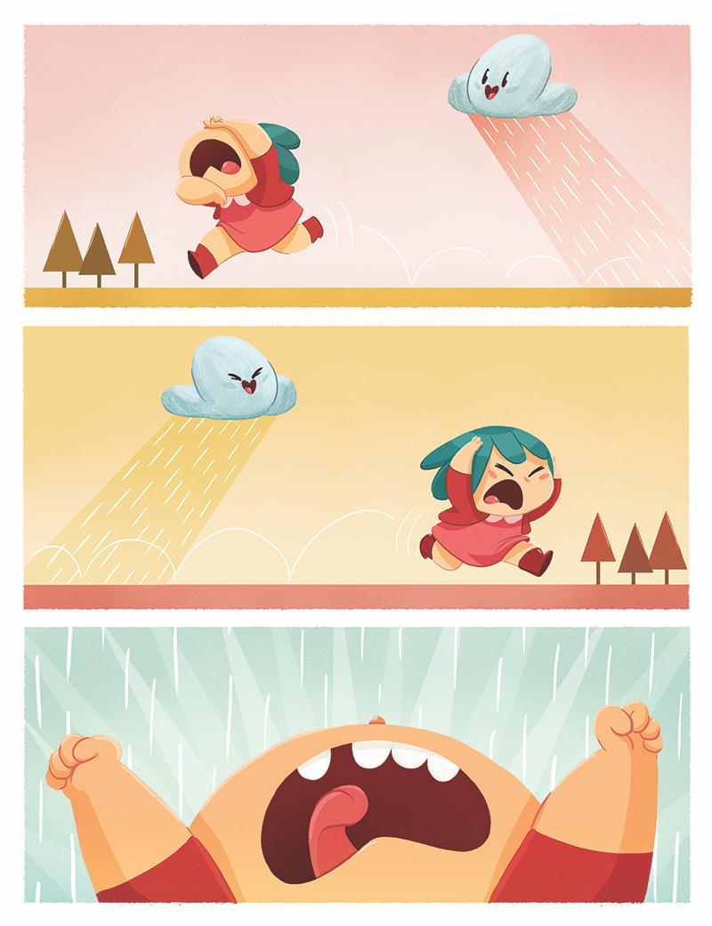 La Pendeja cómic infantil Cloe y la nube
